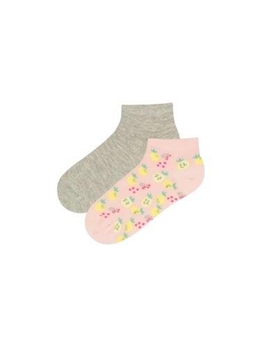 Penti Kız Çocuk Lemon 2Li Patik Çorabı Renkli